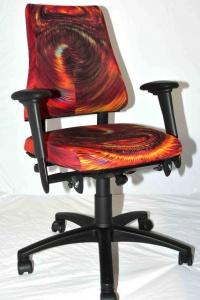 Design bureaustoel blauw