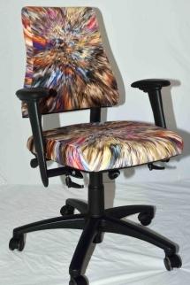 Gekleurde bureaustoel